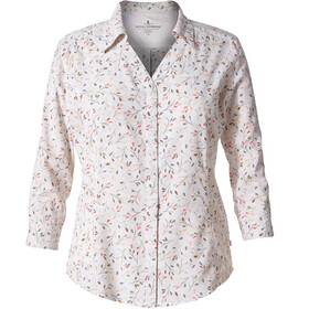 Royal Robbins Expedition Chill Print 3/4 Blouse Women White Print